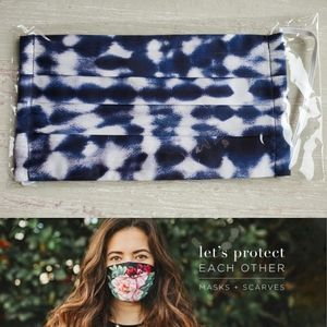 NEW JOHNNY WAS Designer Tie-Dye Face Mask C2